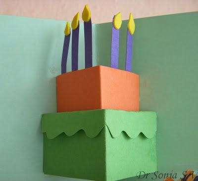 Cards Crafts Kids Projects Simple Pop Up Card Pop Up Cake Card