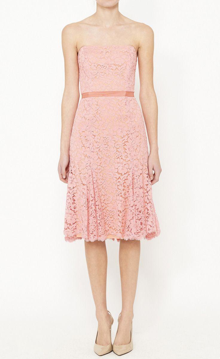 Monique Lhuillier Coral Dress | Women\'s Fashion | Pinterest | Ropa
