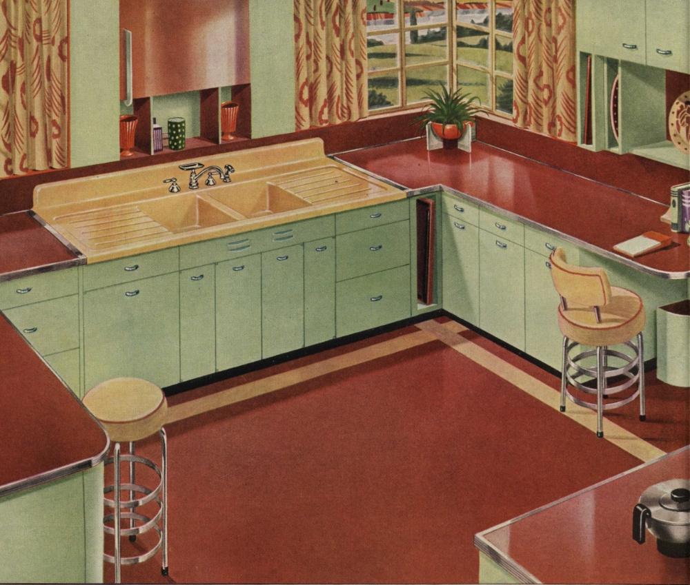 Nemfrog The Well Dressed Kitchen American Standard In 2020 Retro Kitchen Vintage Kitchen Metal Kitchen Cabinets