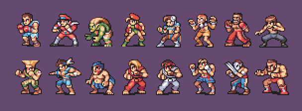 Oc Street Fighter Ii Characters Pixel Art Pixel Characters