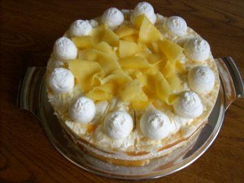 Marmorierte Mango-Joghurt-Torte   Rezept   torten ...