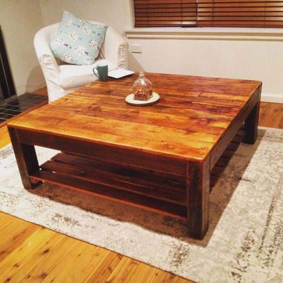 Square Recycled Timber Coffee Table Made In Australia Reclaimed