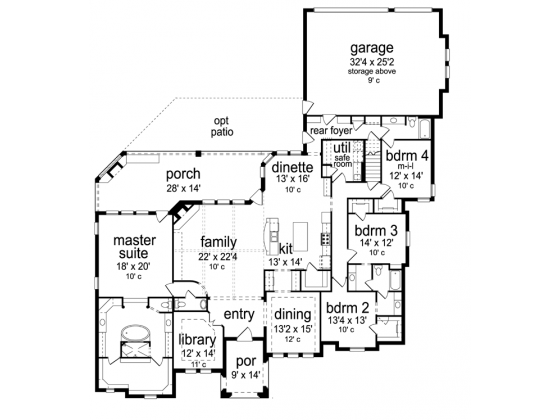 Tudor Style House Plan 4 Beds 3 5 Baths 3795 Sq Ft Plan 84 601 How To Plan Luxury House Plans Safe Room