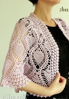 crochet bolero pattern pdf chart diagrams