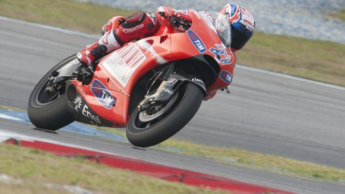 Casey Stoner on the GP10 to be auctioned