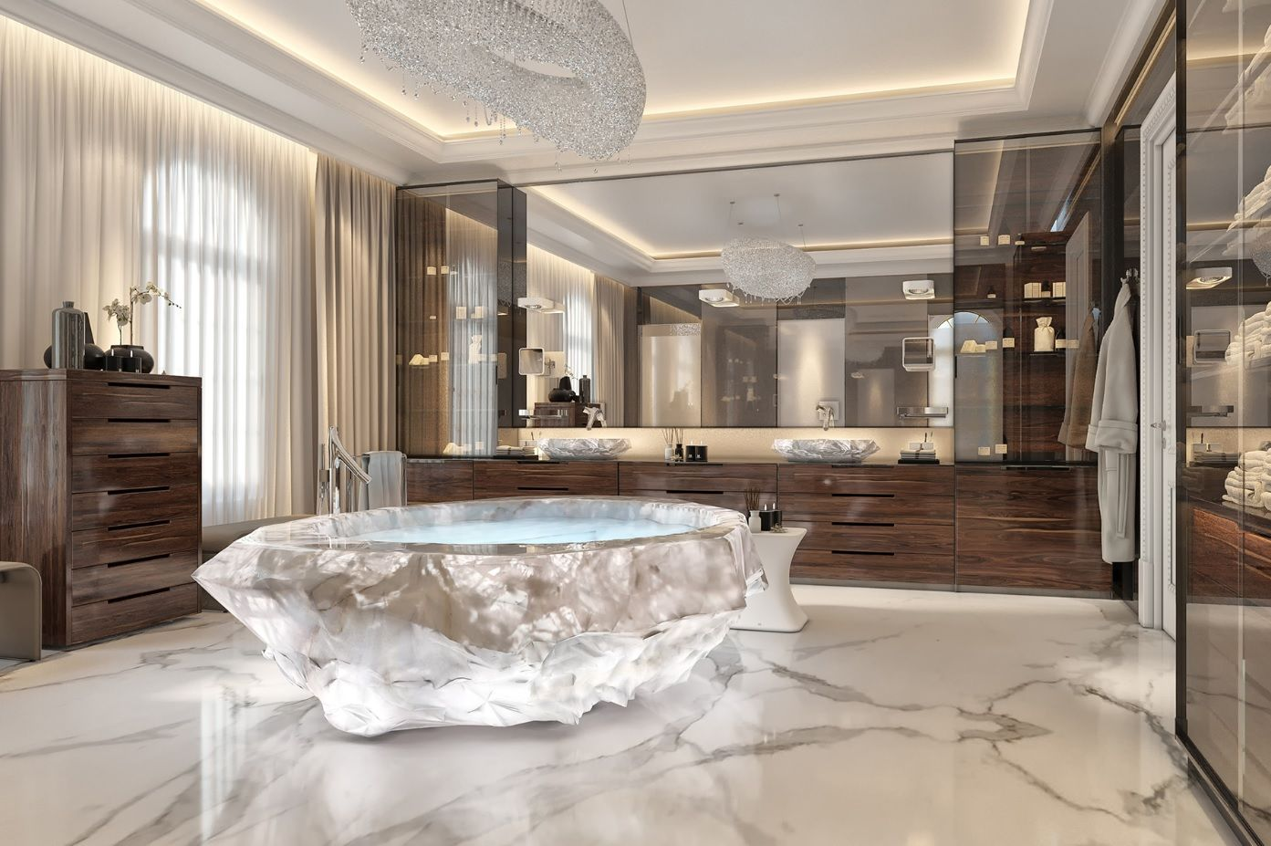 Most expensive bathrooms in the world - The Much Anticipated Xxii Carat Villa Complex On The Celebrity Peppered Palm Jumeriah In Dubai Boasts Some Of The Most Expensive Bathrooms In The World