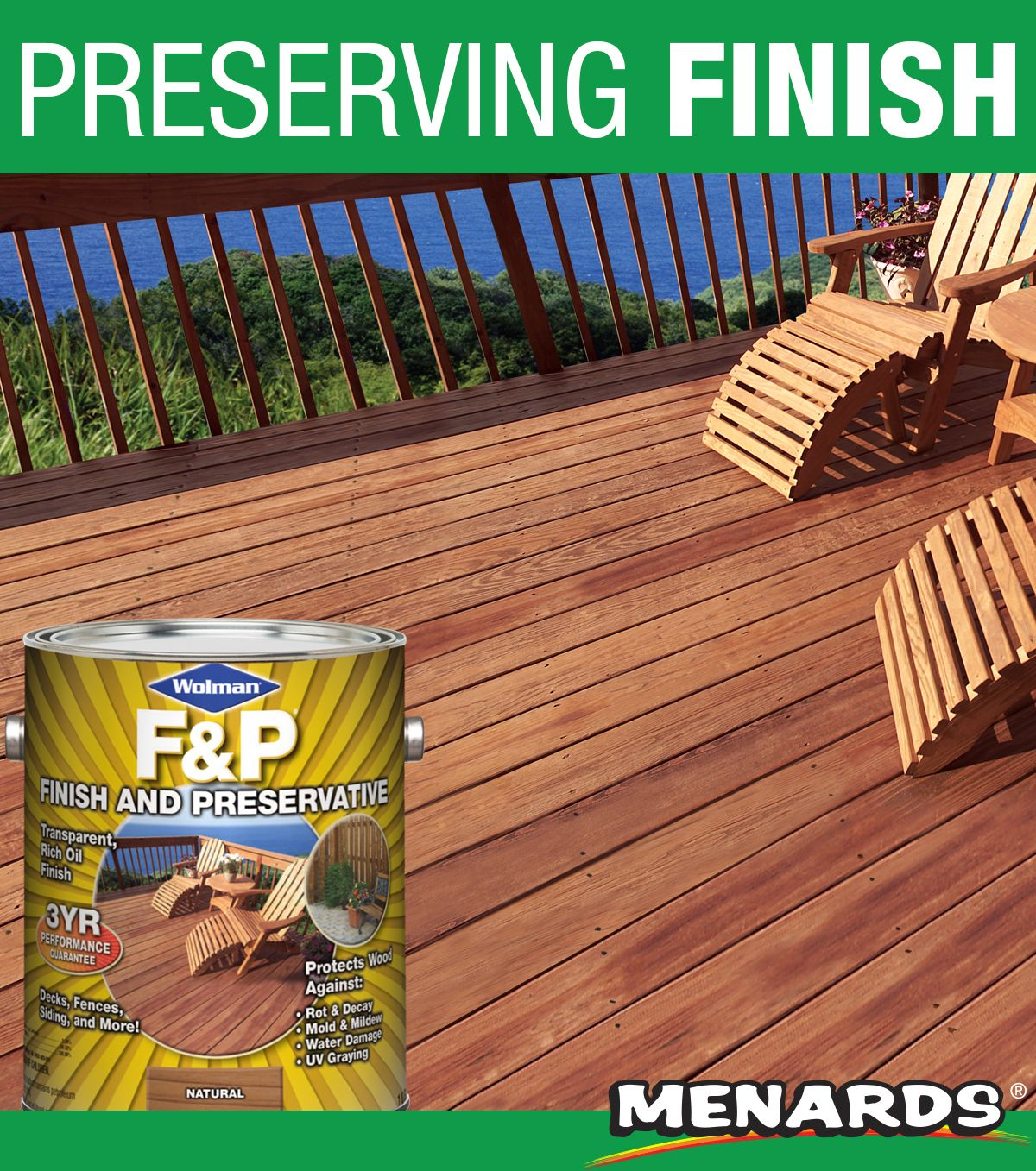 Wolman F P Finish And Preservative Is A Premium Performance Oil Based Wood Finish Making It An Epa Registered Exterior Wood Stain Exterior Wood Staining Wood