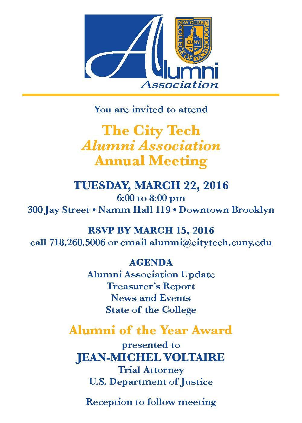 2016 Alumni Association Annual Meeting invitation Events Pinterest