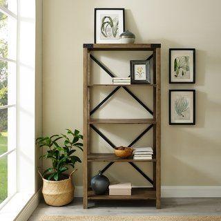 The Gray Barn Kujawa 64 Inch Tall Bookshelf Tall Bookshelves Bookshelves Furniture