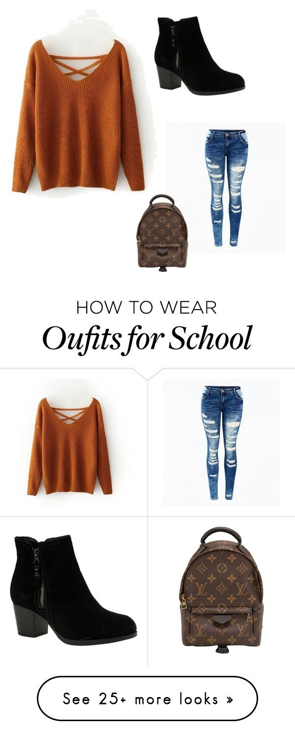 """School"" by jahyra06 on Polyvore featuring Skechers and Louis Vuitton Modas  Juveniles, Ropa"