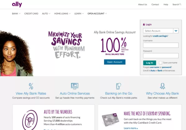 Online Savings Account >> Ally Bank Is An Online Only Bank That Offers Both Checking