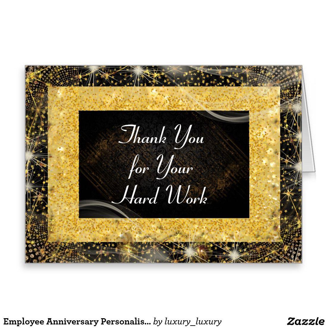 Employee Anniversary Personalised Greetings Card Pinterest
