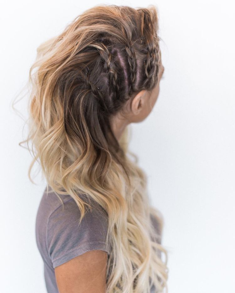 30 Amazing Braided Hairstyles For Medium Long Hair Delightful Braids Lagertha Hair Hair Styles Long Hair Styles