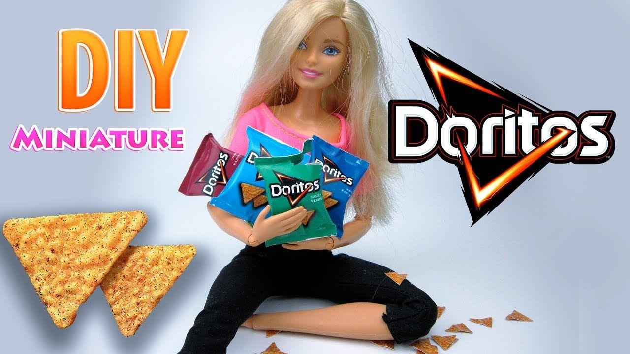 Diy miniature doritos chips pack dollhouse no polymer