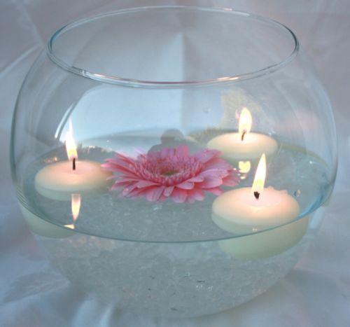 Details About Fish Bowl Bubble Bowl Glass Table Centrepieces