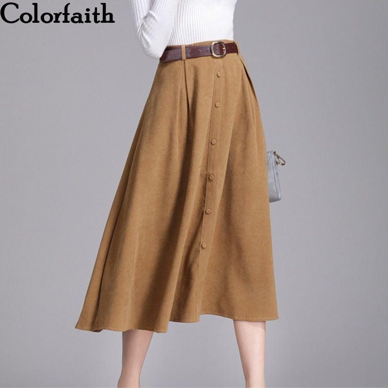 Women/'s Dress Autumn Winter High Waist Skirts For Women Female Midi Skirt