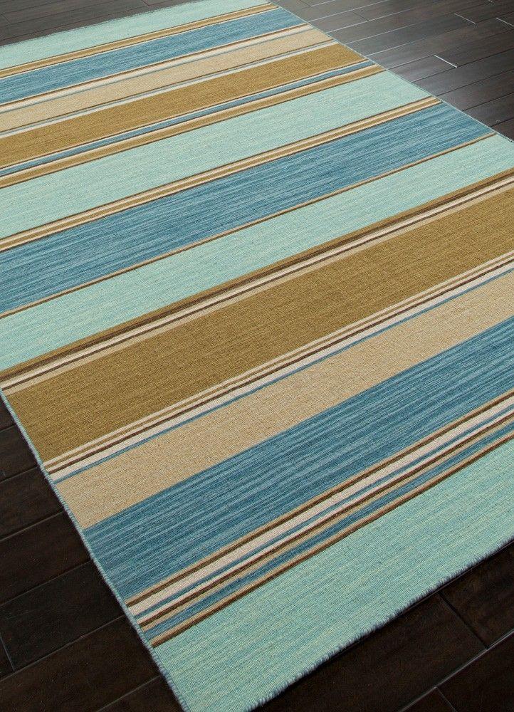 Captiva Striped Coastal Wool Rug