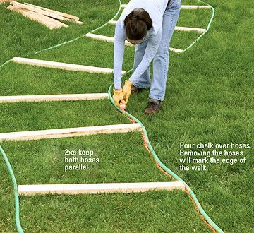 stepping-stone paths - sand-set & mortared patios - walkways ... - Patio And Walkway Designs