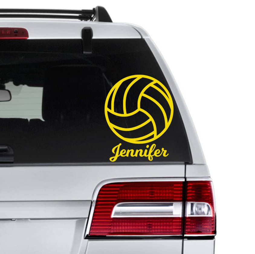 Volleyball decal sports decal team gift custom volleyball decal gift for volleyball