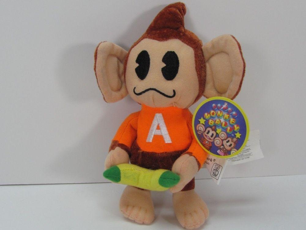 New Super Monkey Ball AiAi Monkey plush stuffed toy SEGA