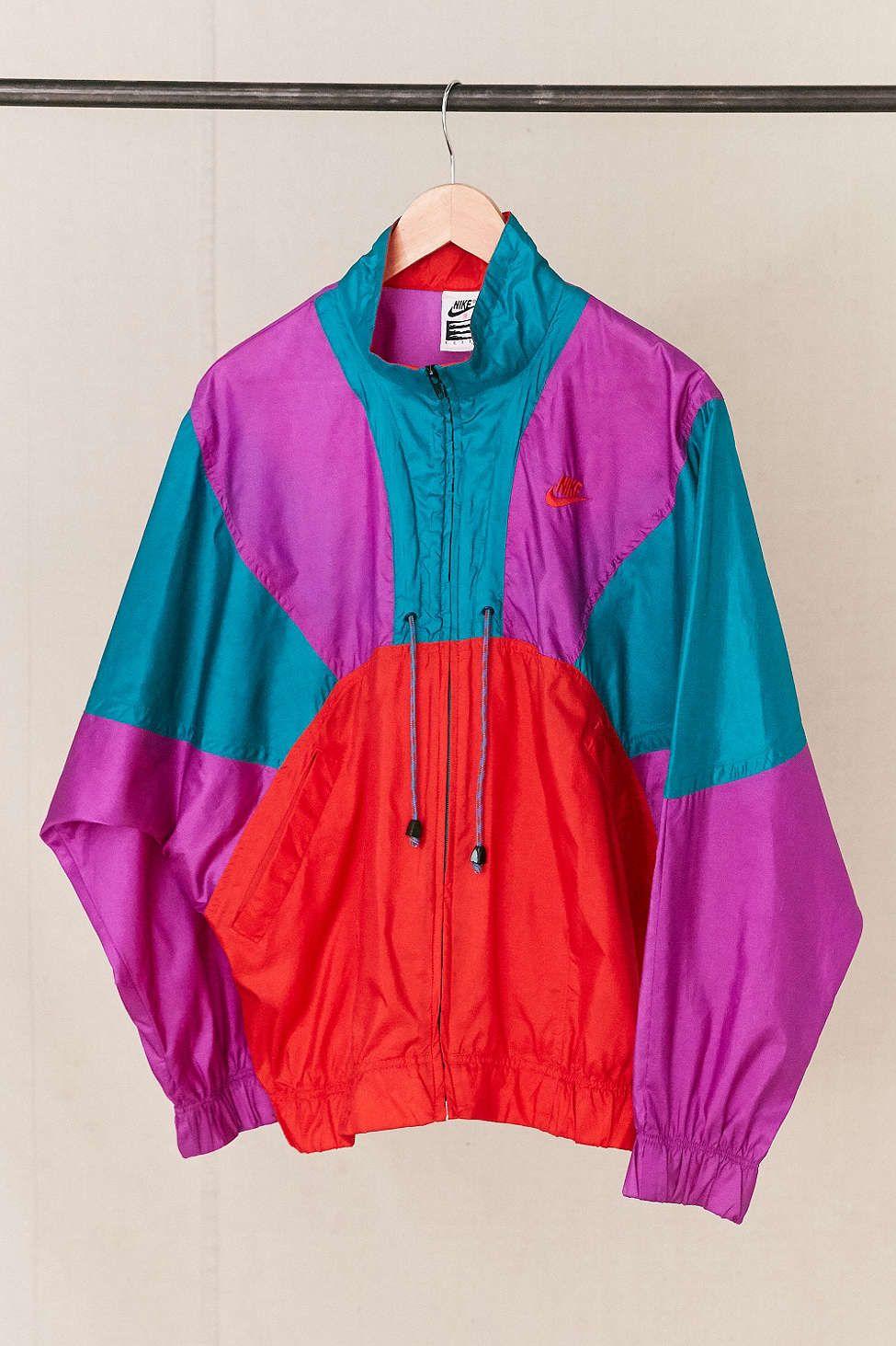 9ede9c633 Vintage Nike Neon Drawstring Windbreaker Jacket