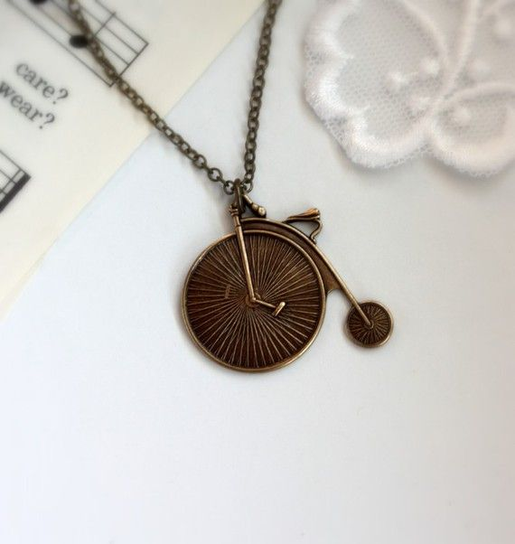 An Old Fashion Circus Bicycle Necklace Circus Inspired by Marolsha, $16.50