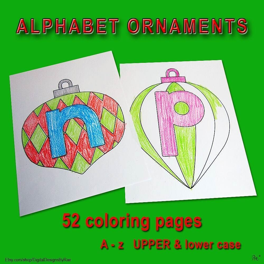 ABC Ornament Coloring Pages! http://ift.tt/2o23p6G #alphabet ...