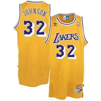 Adidas Los Angeles Lakers 32 Magic Johnson Swingman Home Jersey Los Angeles Lakers Magic Johnson Adidas Los Angeles