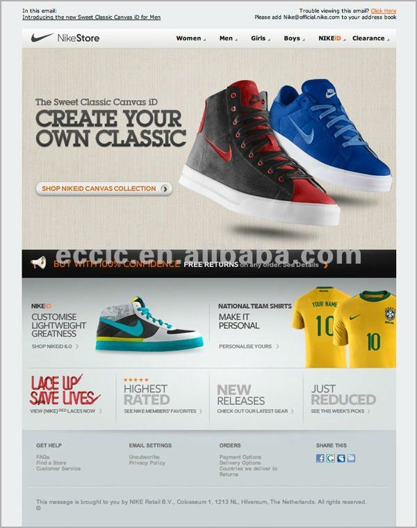 Shoes Email Marketing Templates   Email Marketing