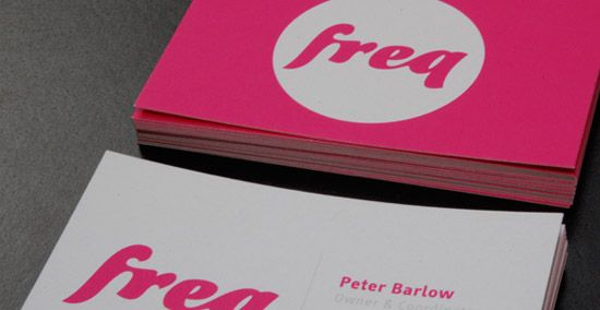 Freq Nightclub Business Card Design Cool Business Cards Business Card Inspiration