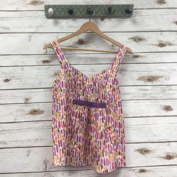 Anna Sui for Anthropologie top 100% silk, side zip enclosure! Anthropologie Tops