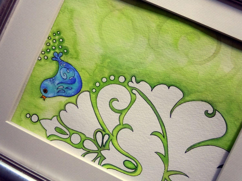 "Scandanavian Bird Giclee  - Fine Art Print, 8x10 ""Scandanavian Bird Lime"". $70.00, via Etsy."
