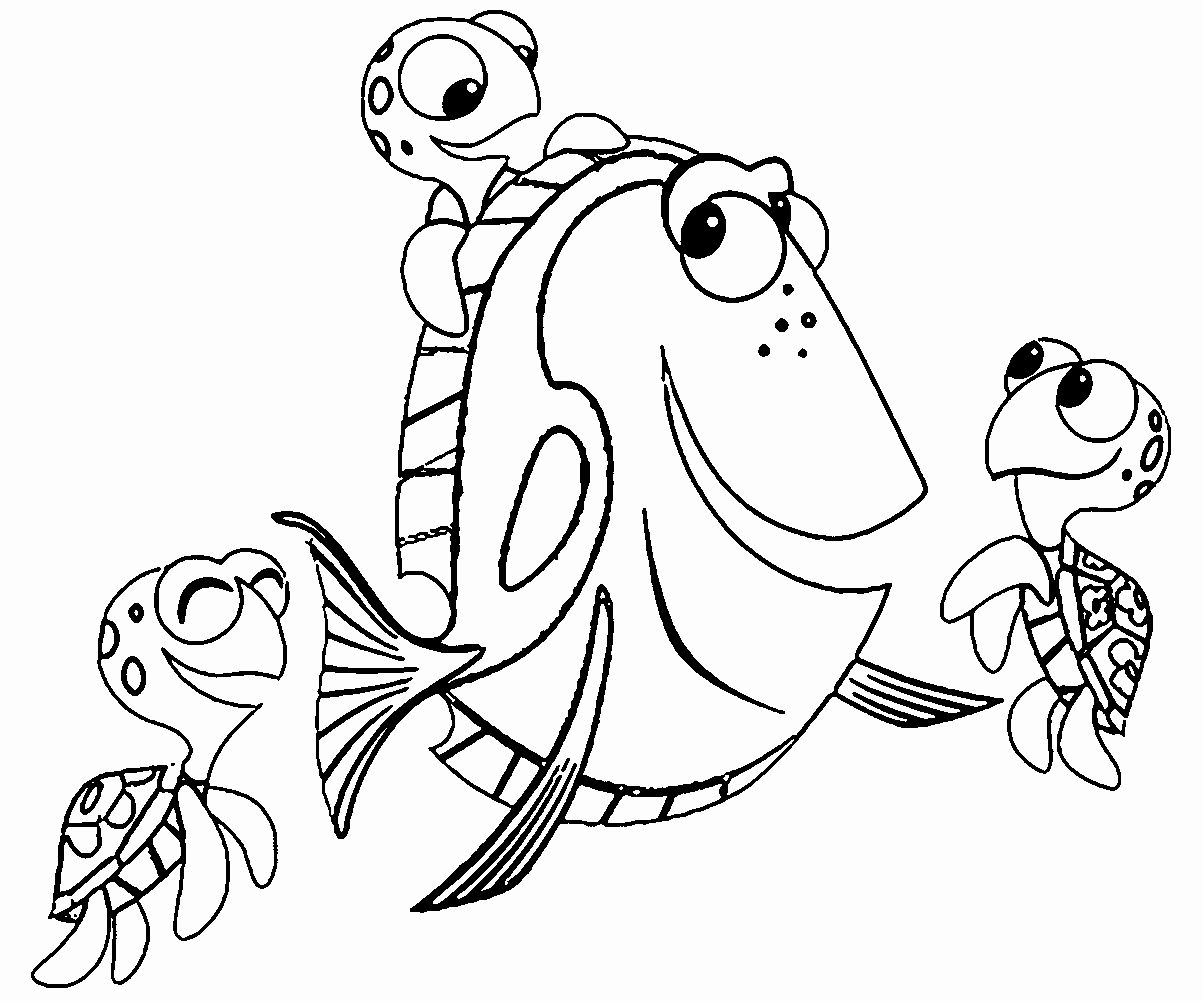 Finding Dory Coloring Book Luxury Finding Nemo Coloring