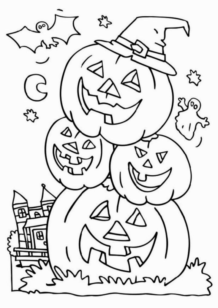 Halloween Coloring Pics Halloween Halloween Coloring Sheets