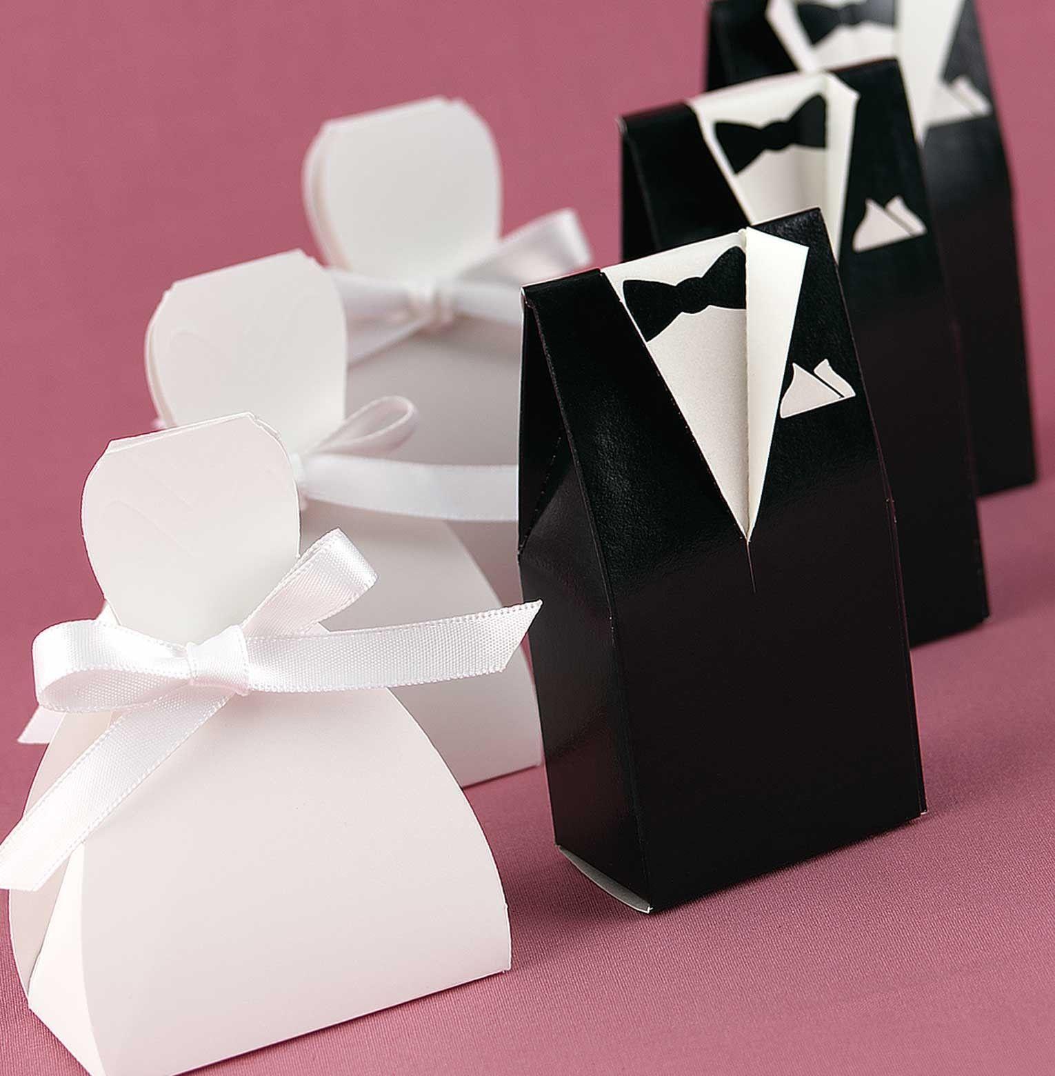 Novio y Novia: cajitas para recuerditos de bodas. Tutorial con ...