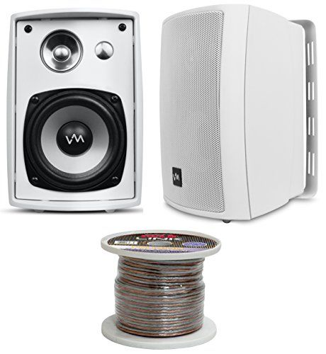 vm audio sr wod4 white pair waterproof indoor outdoor speakers 100 rh pinterest com Speaker Wiring Diagram install speakers for computer