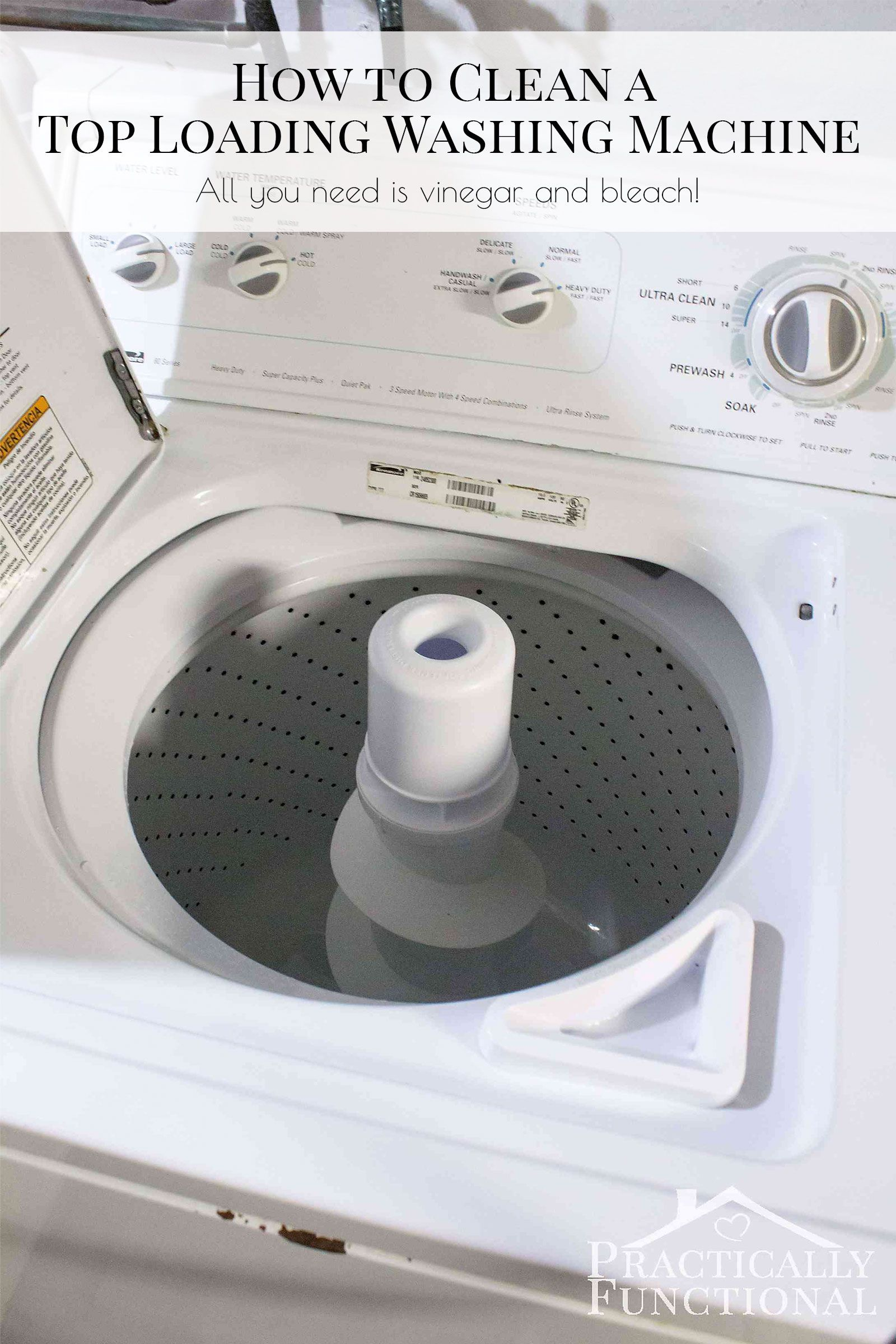 How To Clean A Washing Machine With Vinegar And Bleach Step By Instructions That Really Work