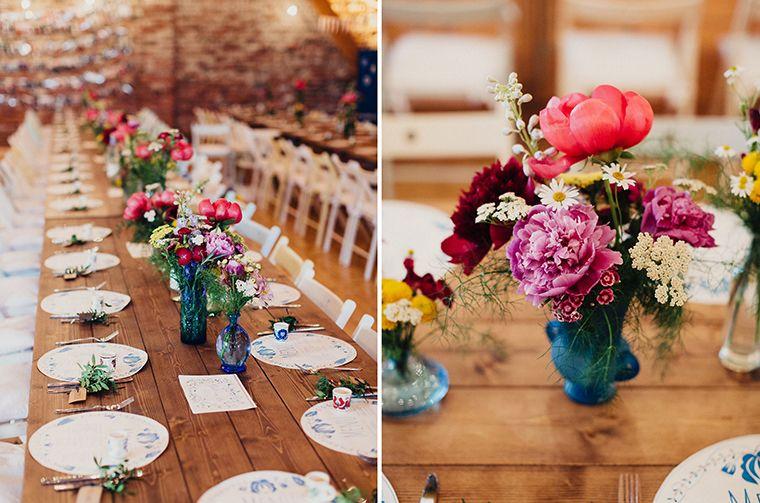 Hochzeit im Folklore Stil  Blumen  Tischdeko hochzeit boho Hochzeit und Tischdekoration hochzeit