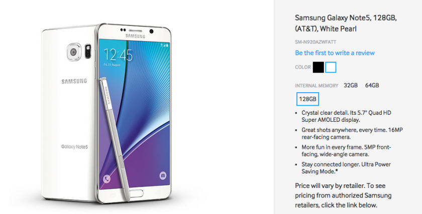 The Samsung Galaxy Note 5 And Galaxy S6 Edge May Come In 128gb Variants After All Galaxy Note 5 Samsung Galaxy Note 5
