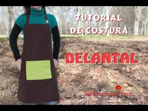 Tutorial #46 - Como hacer un Delantal - How to make an apron - YouTube