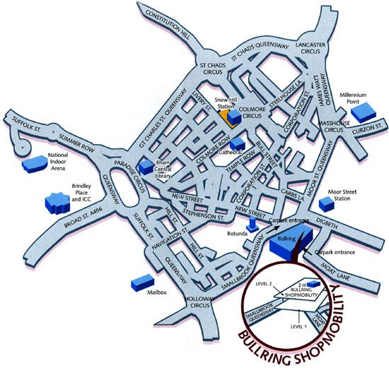 Map of how to find us Birmingham shop mobility Useful Pinterest