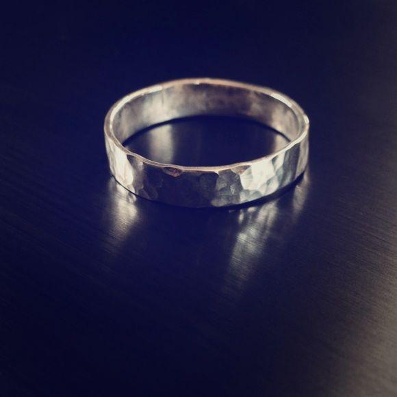 20% off bundles! ✨ Sterling silver hammered ring Sterling