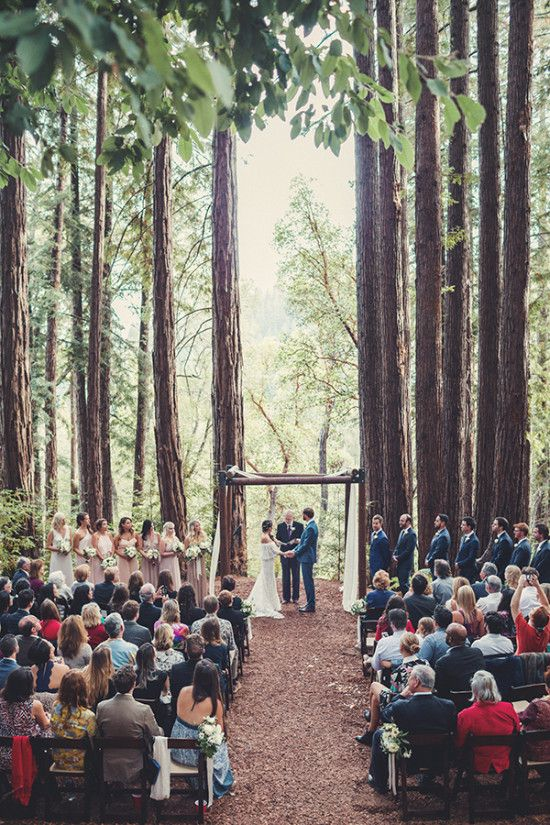 This Outdoor Wedding Ceremony In The Middle Of The Woods Is The Definition  Of Romantic Boho Chic.