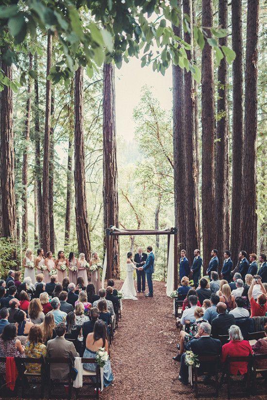 Romantic Boho Chic Forest Wedding Forest Wedding Redwood