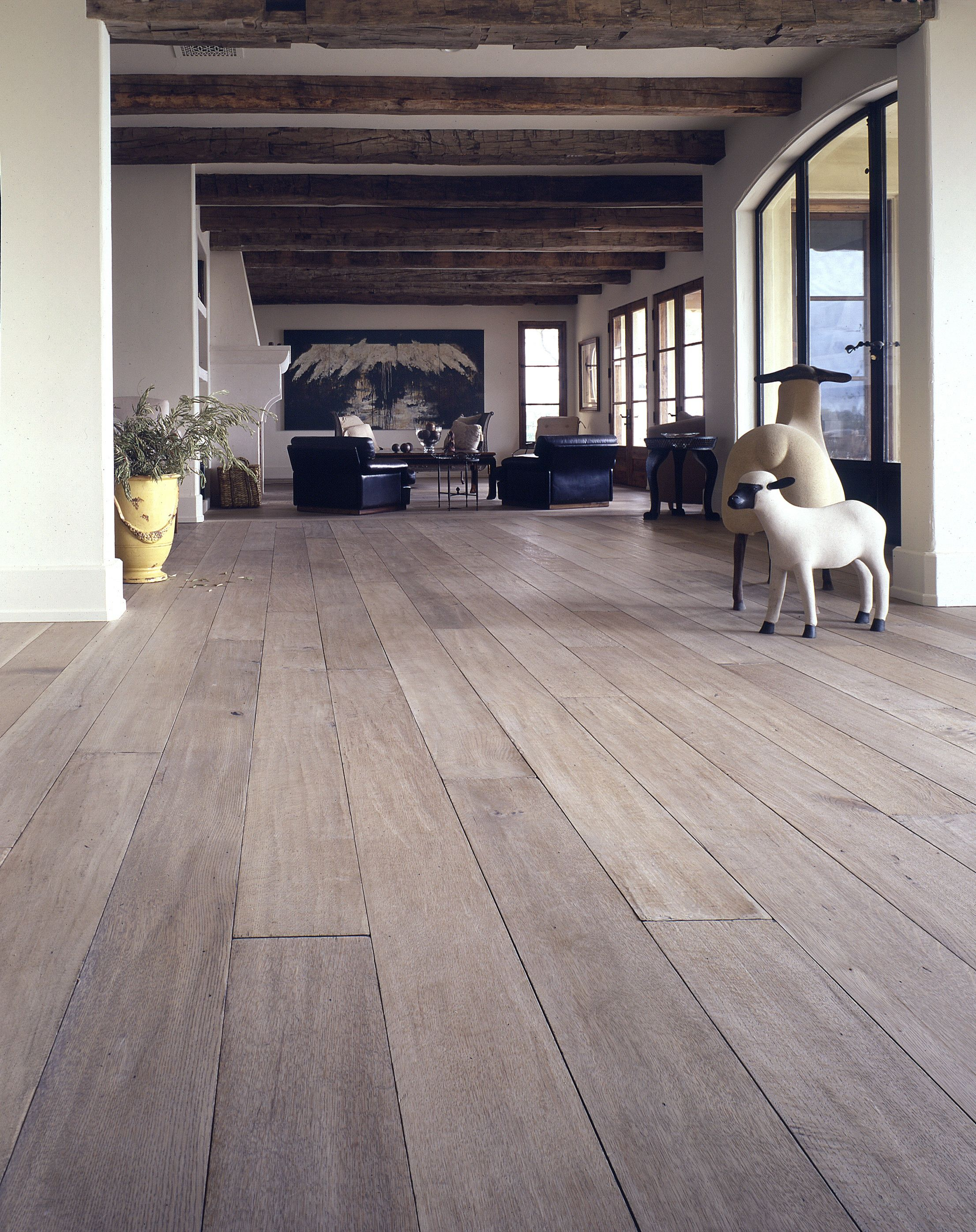 Off White And Grey Fumed Wood Floors  Of Light Wood Or - Modern hardwood floors