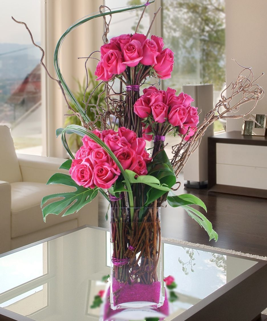 Hot pink roses marietta hot pink rose marietta arrangements carithers flowers voted best florist atlanta ga same day flower delivery izmirmasajfo Gallery