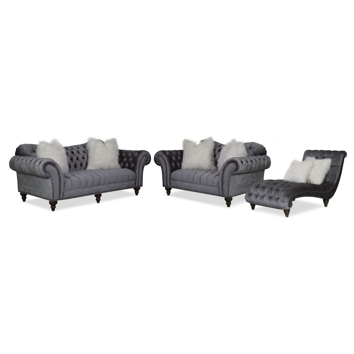 Best Brittney Sofa Loveseat And Chaise Value City Furniture 400 x 300