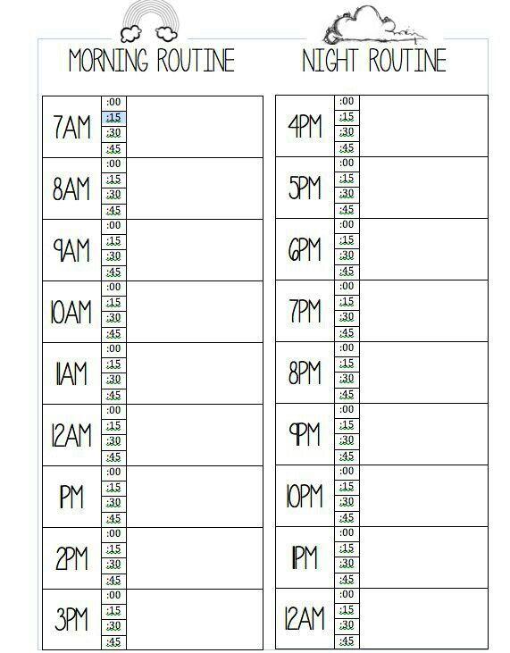 Pin By Yaritza On B U L L E T J O U R N A L Daily Schedule