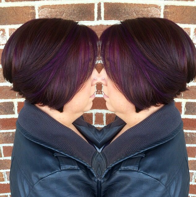 Berry sangria hair color custom mix of pravana vivids violet berry sangria hair color custom mix of pravana vivids violet and magenta for her color block and highlights with a medium mahogany red base pmusecretfo Image collections