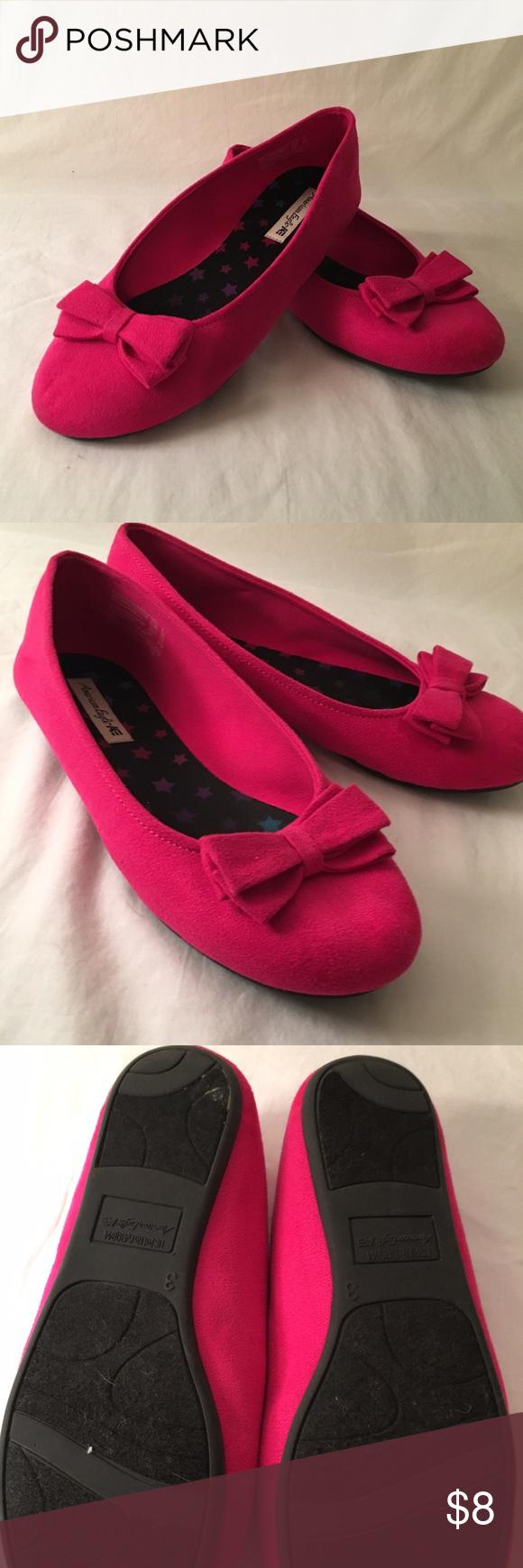 Hot pink dress shoes  American Eagle Pink Ballet Flat girls sz  Like New Girls Hot Pink